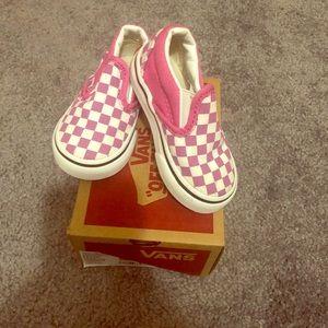 Toddler Pink Checkerboard Vans